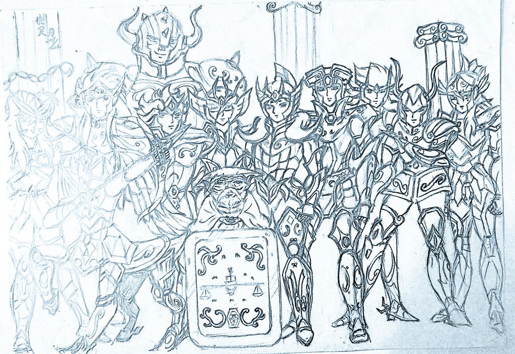 《十二黄金圣斗士》手绘图