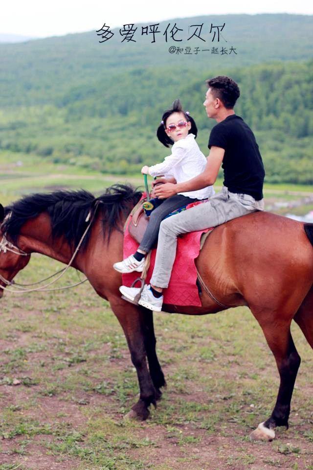 最可爱的还是孩子们骑马,可把她们开心坏了!