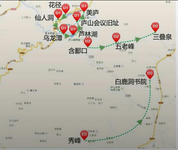 旅程路线手绘图