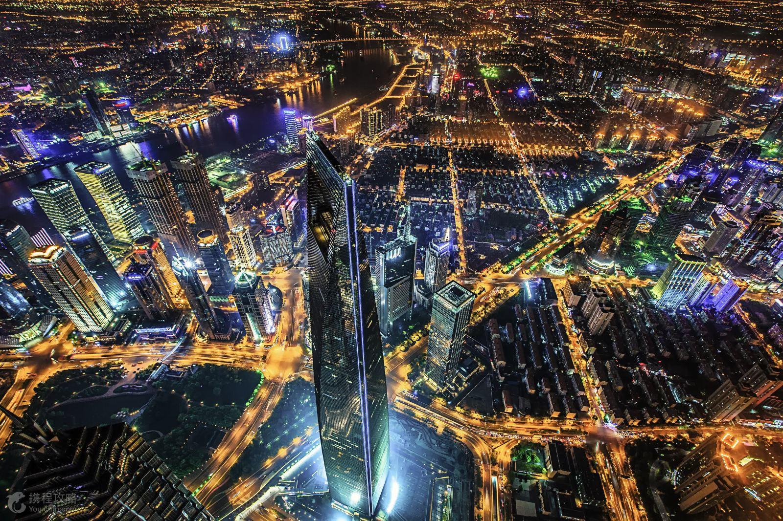 上海红色地标手绘地图