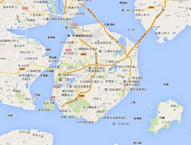 厦门土楼手绘地图