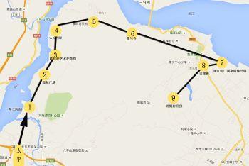 琴江满族村手绘地图