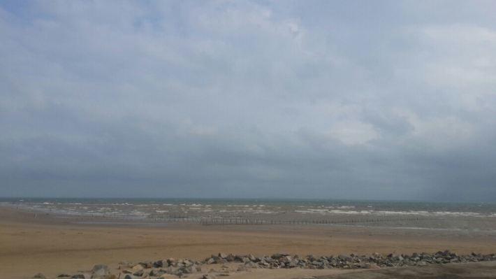 心滩沙堤形成过程手绘