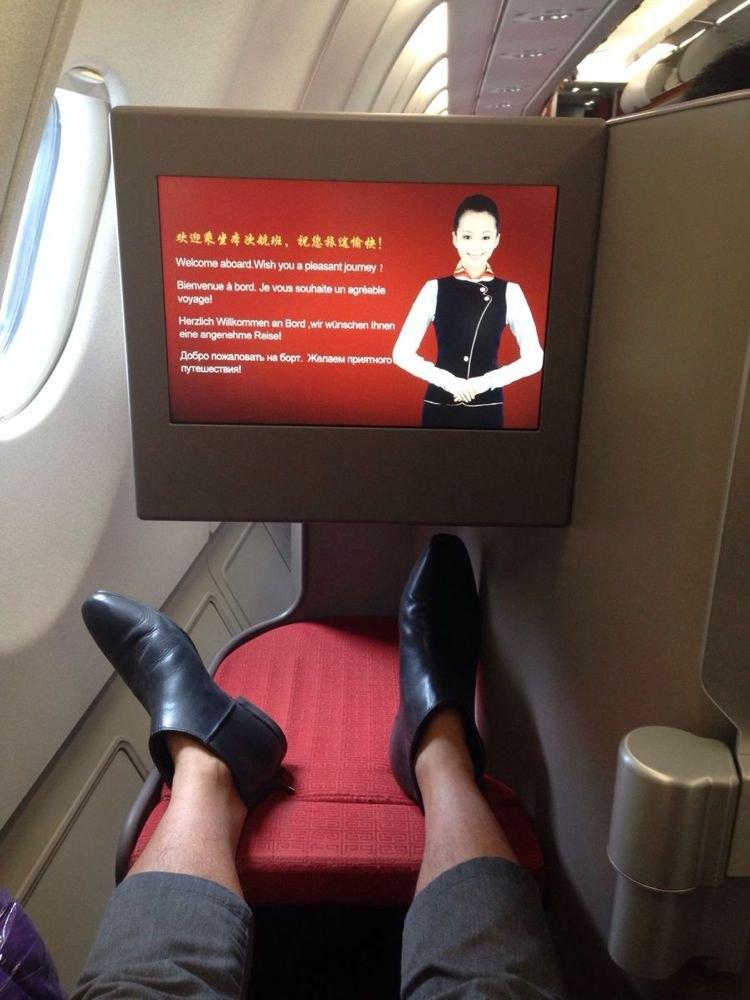201504300504五一商务舱去台湾(飞机篇)