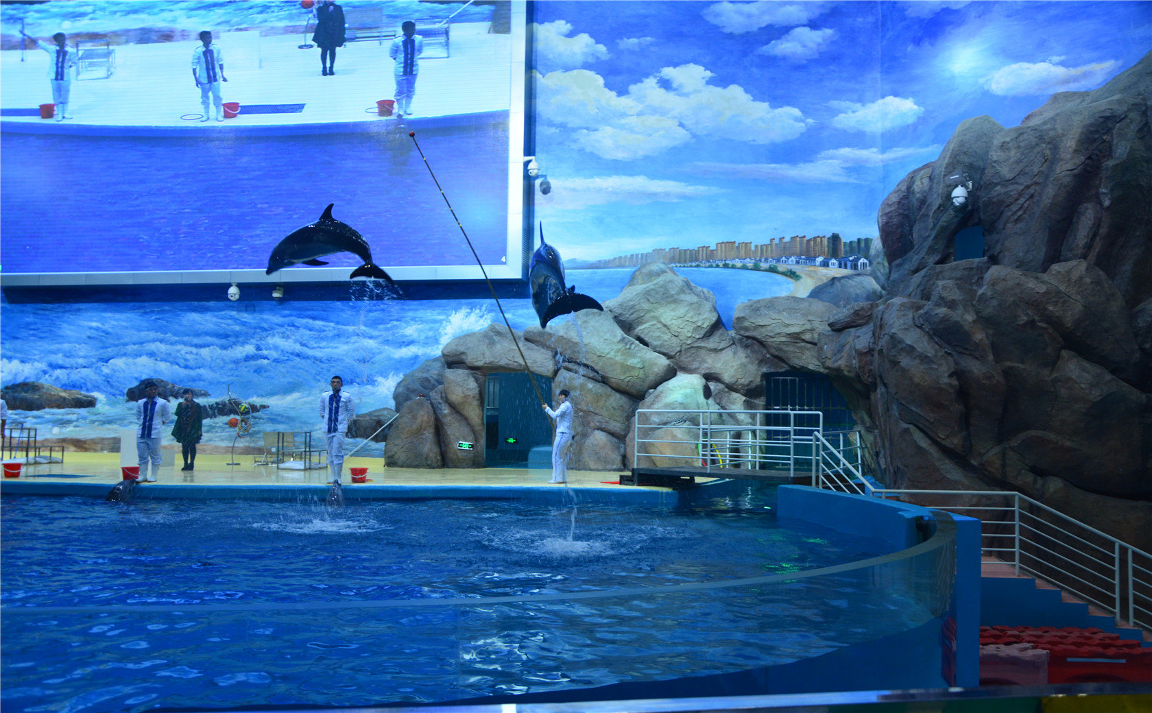 福州罗源湾海洋世界是世纪金源集团斥巨资打造的亚洲超大规模,海洋物种展示丰富、展示功能设施齐全的综合性场馆。海洋世界位于罗源湾滨海新城东南面,占地172亩,建筑面积20470平方米,配备大型停车场,车位多达4500个,汇聚了八大主题区域,设有70余个海洋生物展示设施,展示的海洋物种达300余种。