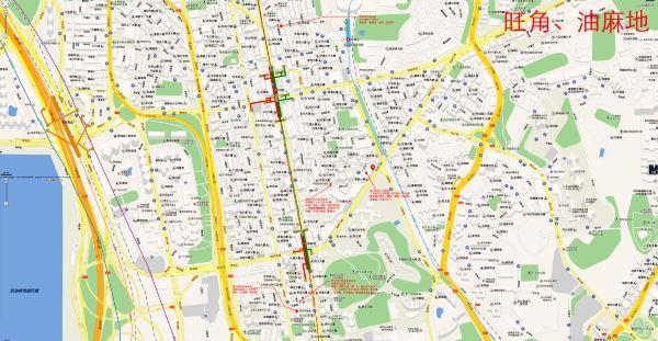 此篇中的地图大多数是我2014年去香港前从百度地图中截图拼接而成的