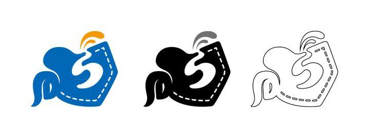 左上角的海豚造型延续了携程logo里原有的象征便捷灵活智能 的