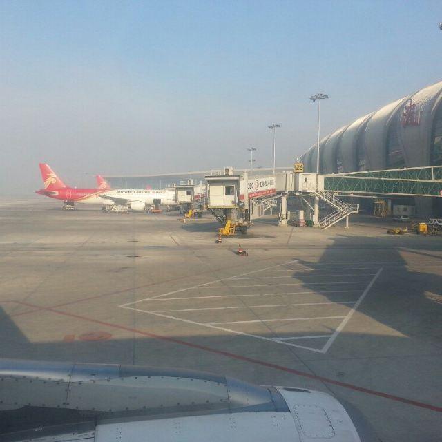 第一天,坐早上的飞机,从桃仙机场前往桂林两江机场图片