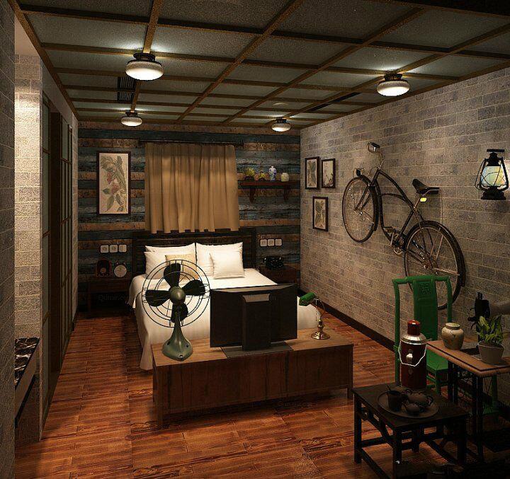 房间好文艺复古风,挺独特的,来无锡的朋友可以来试试!图片