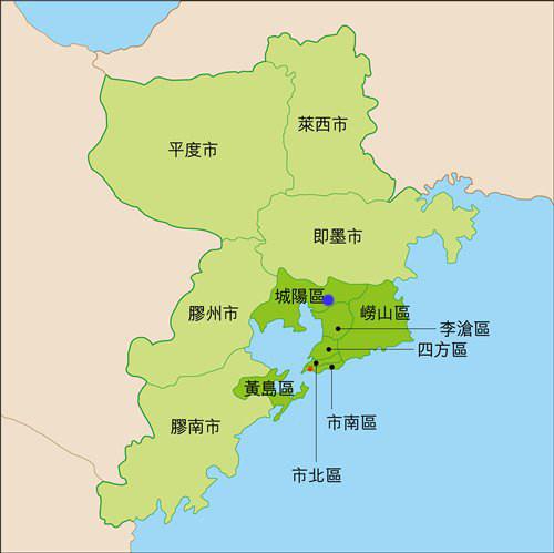 青岛主要景点分布