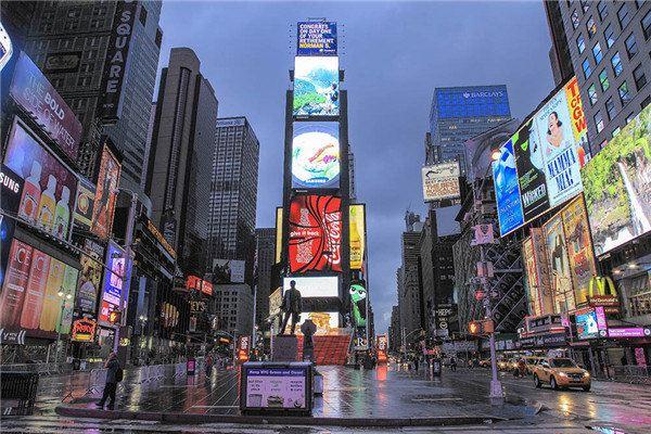 《纽约时报》早期在此设立的总部大楼,是美国纽约市曼哈顿―块街区