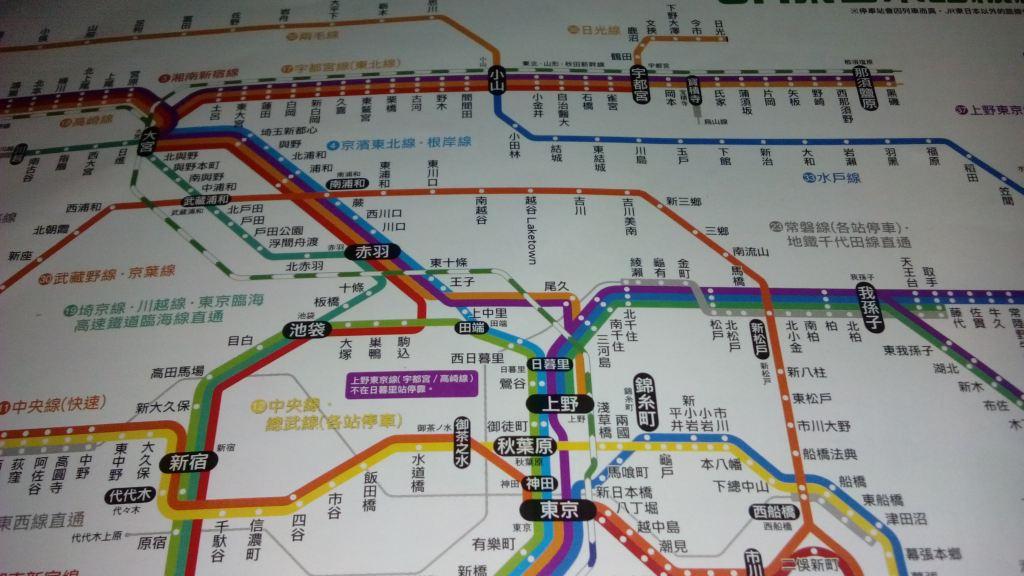 地图上铁路线就是新干线