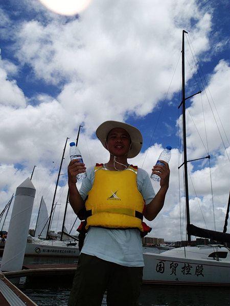 5小时的帆船体验准备结束,返航图片