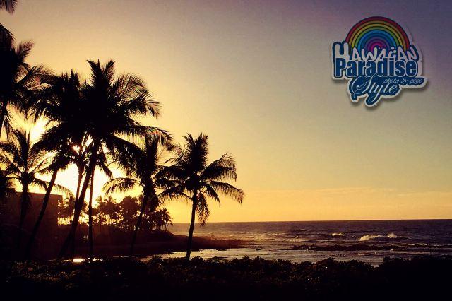 夕阳西下,配上巨浪,椰子树,这就是我印象中最美海岛的画面.