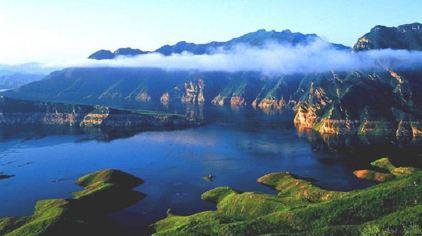 长寿湖导游图手绘简单