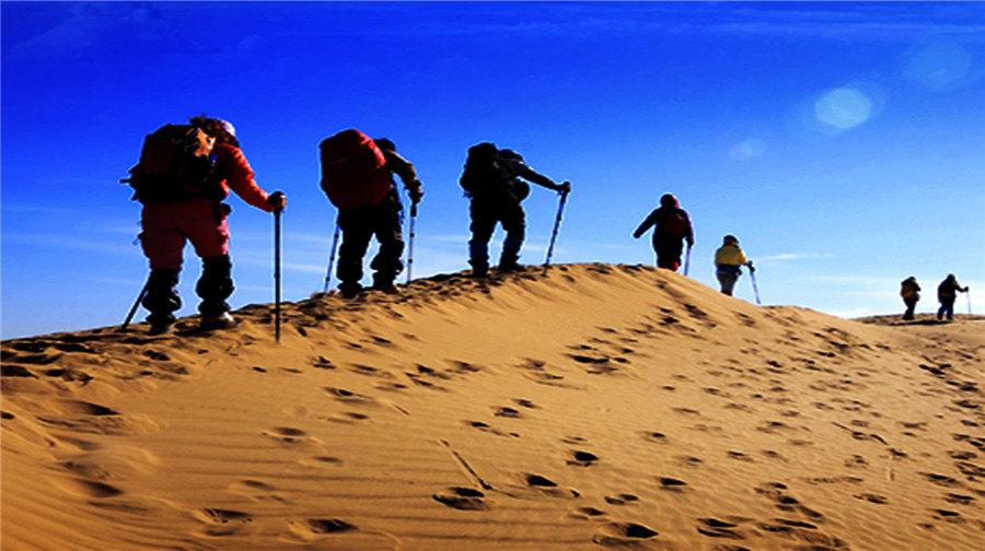 内蒙古库布齐沙漠|内蒙古鄂尔多斯达拉特旗展旦召苏木