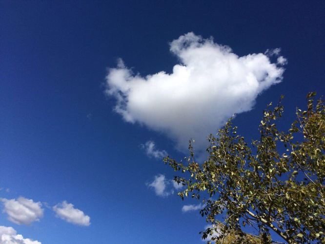 心型的云朵图片