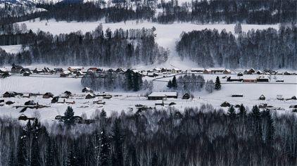 鹤岗新水源冬季图片