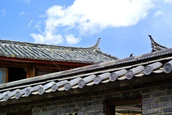 白族屋顶矢量图