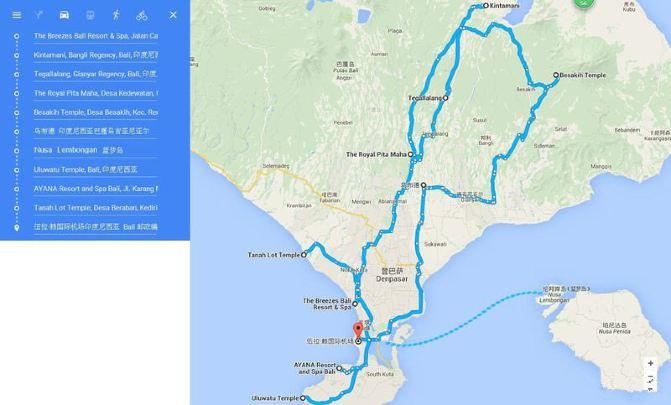 武汉到巴厘岛自由行_co 甜甜圈—海神庙日落 d10,【巴厘岛—武汉】 我的行程线路图: 在