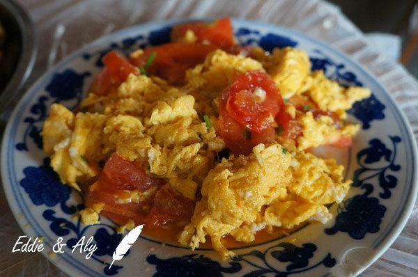 西红柿炒蛋矢量图
