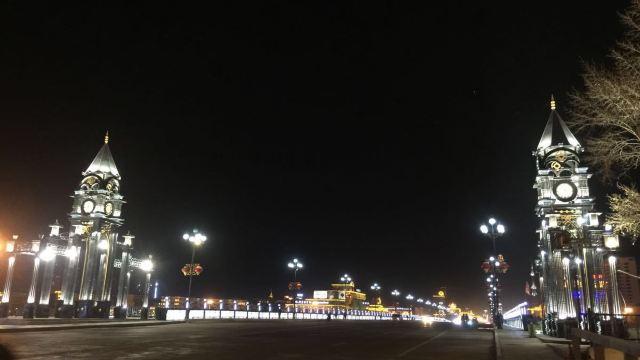 古典欧式建筑黑夜