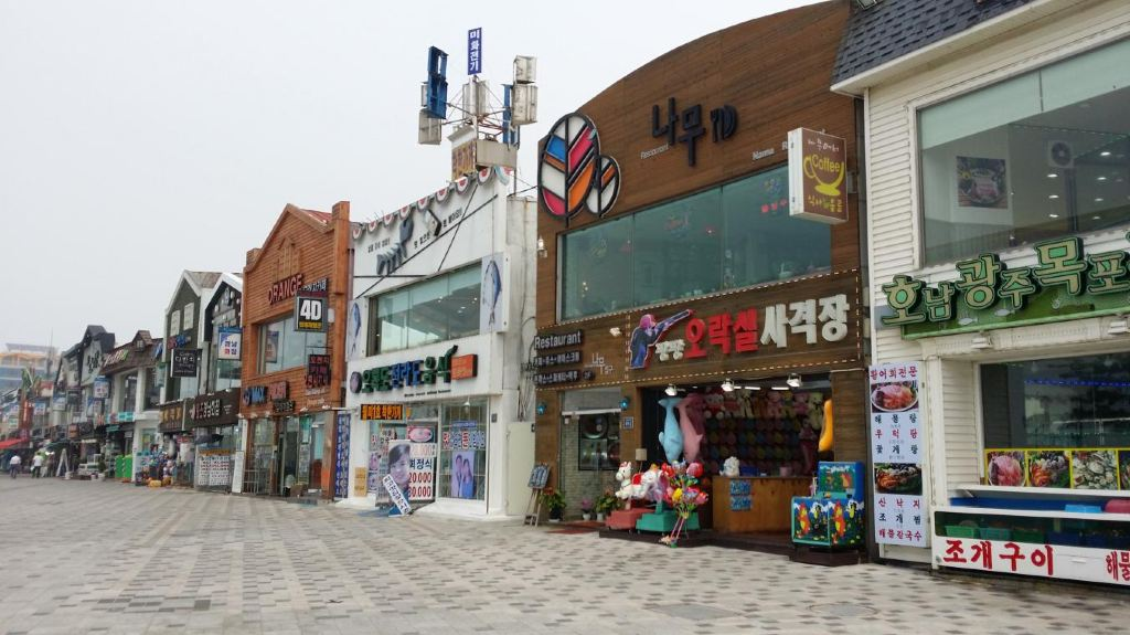 韩国手绘街景壁纸高清