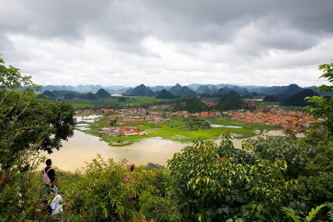 乐驼网-昆明与兴义攻略--城子村、普者黑、马岭台州市v攻略之间图片