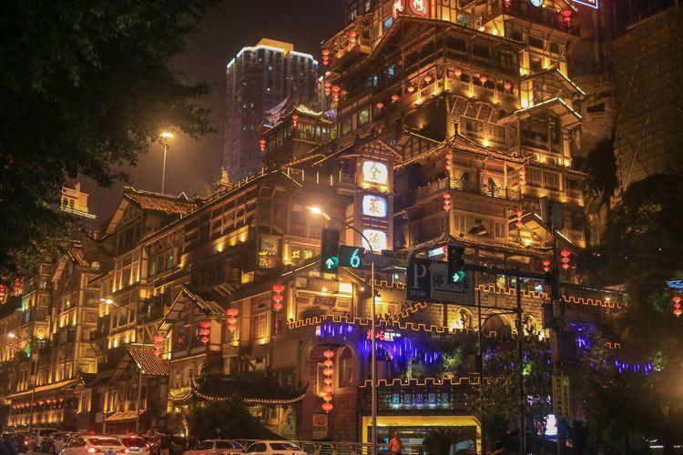 在别墅重庆遇见《千与千寻》的奇幻街景山城顺德一手图片