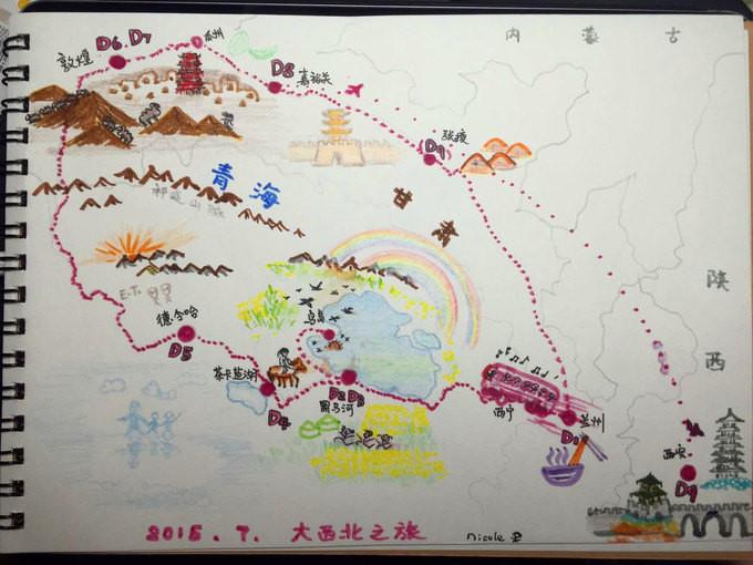 以另一张手绘地图来结束这一篇记忆.谢谢@nicole, 我们明年再见!