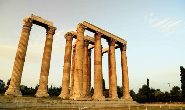 雅典神像手绘图