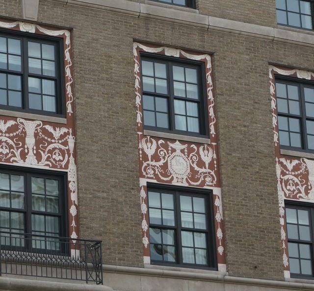 外墙窗框精美装饰花纹