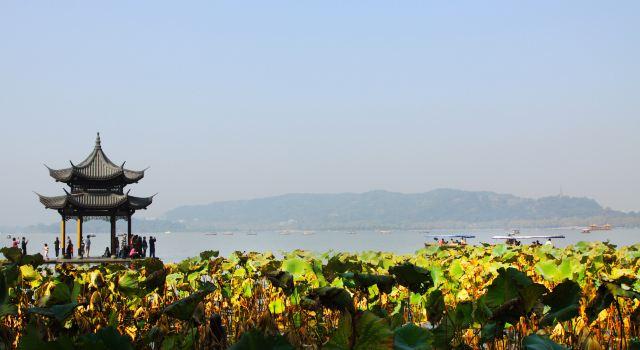 微信头像城市风景杭州