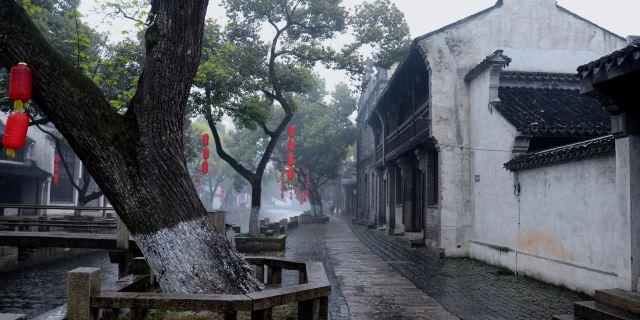 无锡惠山旅行图手绘