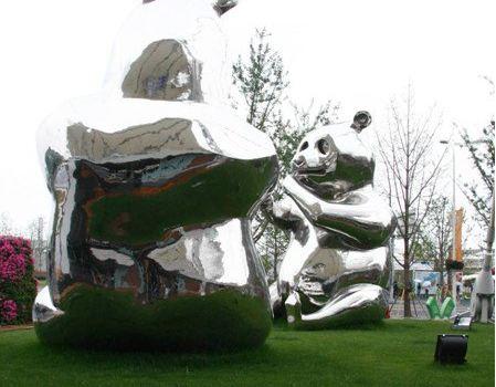 熊猫造型景观手绘