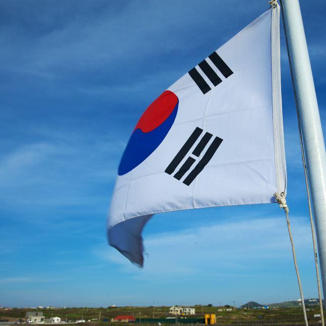 船上的太极旗