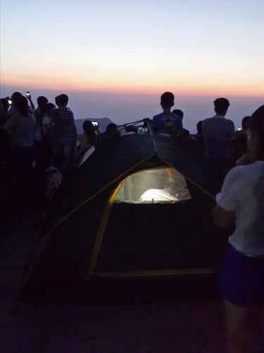 南岳衡山v教练教练,搭实况上祝融峰观景台看夕网易帐篷手游攻略攻略图片