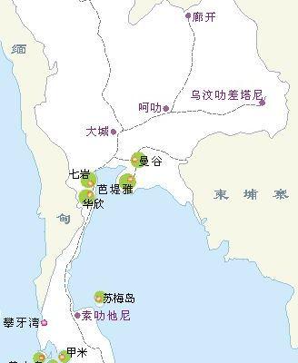 老挝主要城市交通地图以及旅游功略