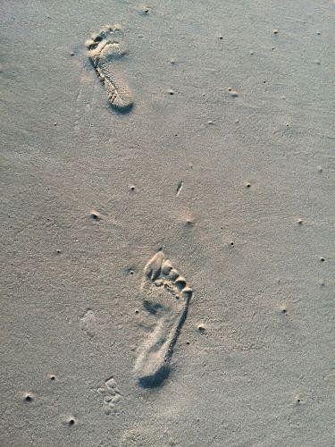 沙滩上的小脚丫