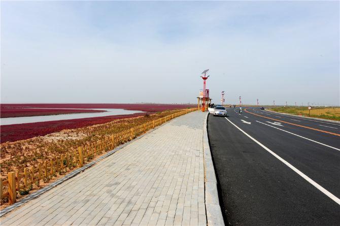 红海盘锦滩风景攻略自驾游-宿州游记攻略盘锦自助游廊道图片