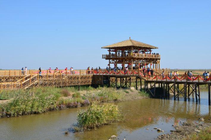 【十一攻略东世界之四】风景游记珠海滩,奇观玩红海自驾图片
