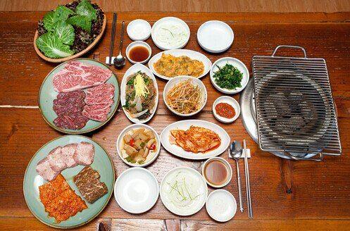 风味小菜,韩式烤肉