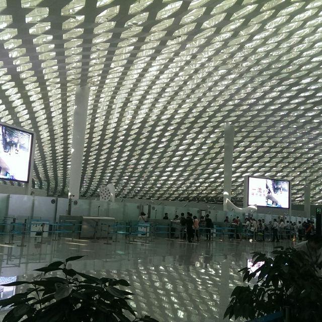 工作完,回家,深圳飞机场真漂亮
