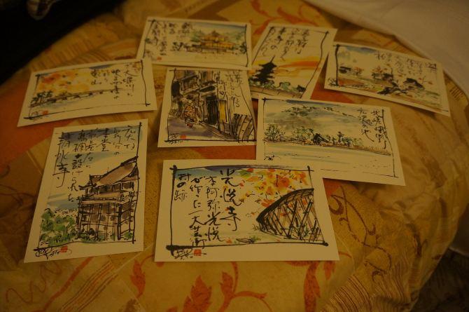 京都明信片2:手绘系列