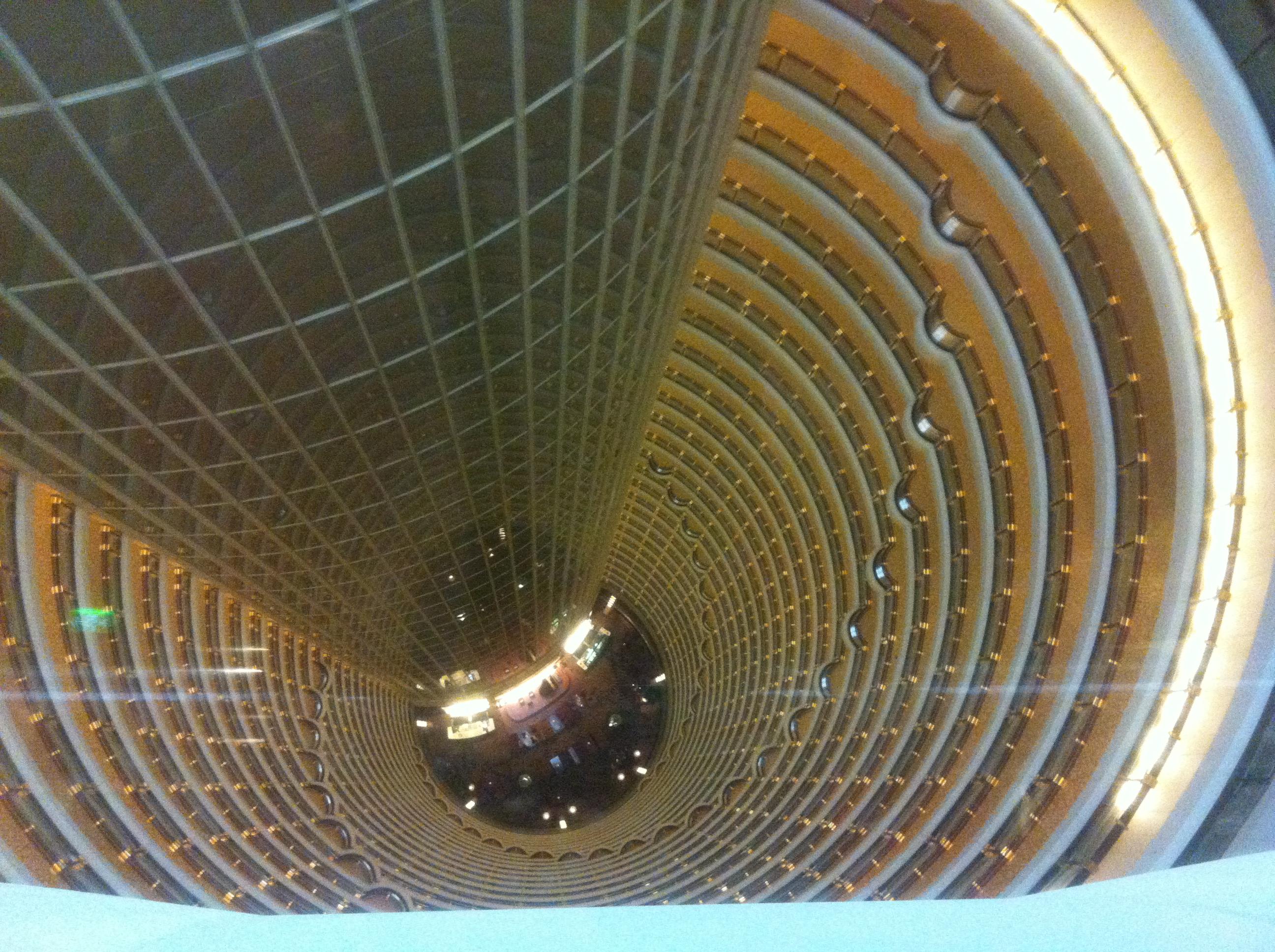 金茂大厦88层看 金秋十月下江南高清图片