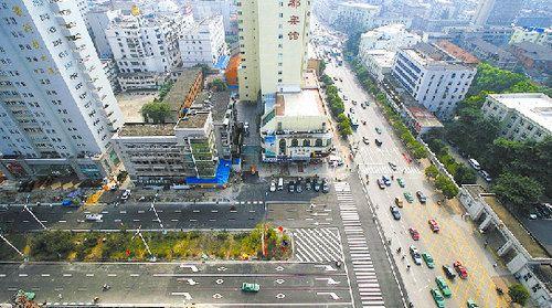 街心广场手绘平面