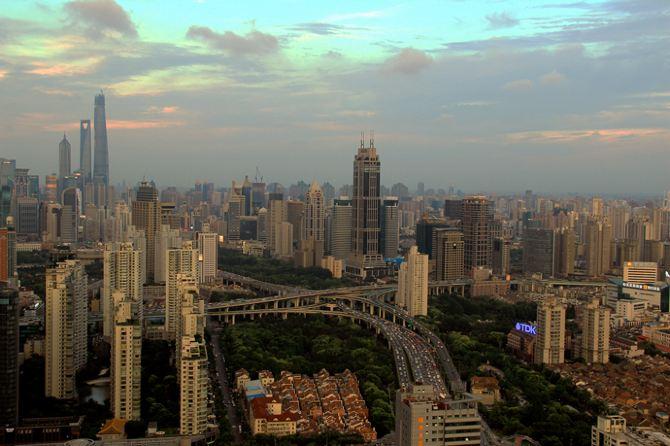 【上海】高楼大厦上欣赏上海城市风光