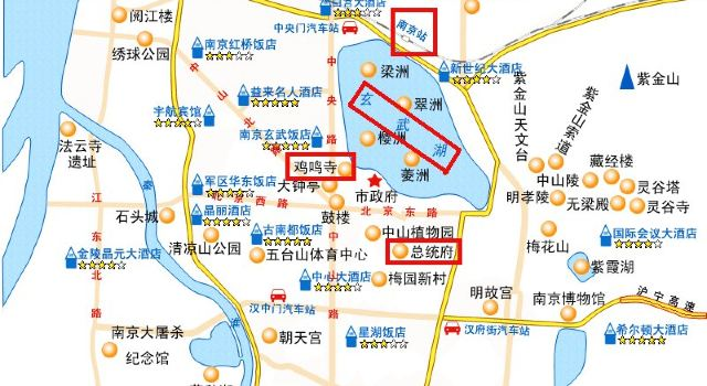 南京玄武湖景点地图