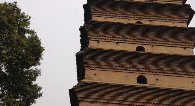 西安钟楼黑白简笔画