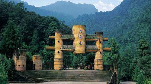 """天台山风景区,位于全国知名的""""将军县""""红安境内"""